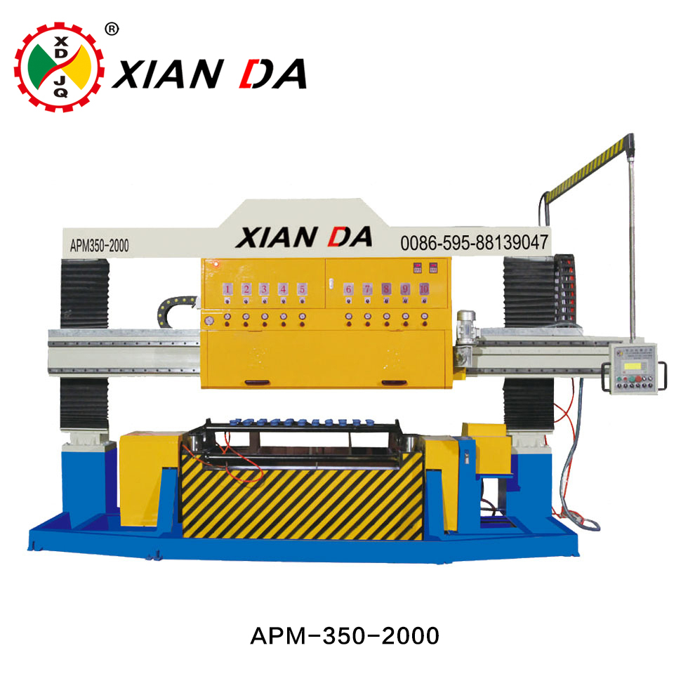 Automatic arc slab stone polishing machine