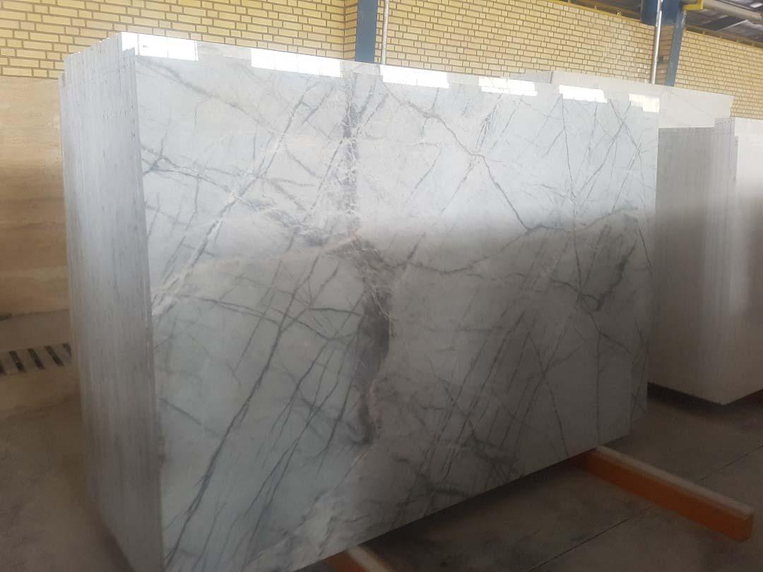 White Grey Spider Marble