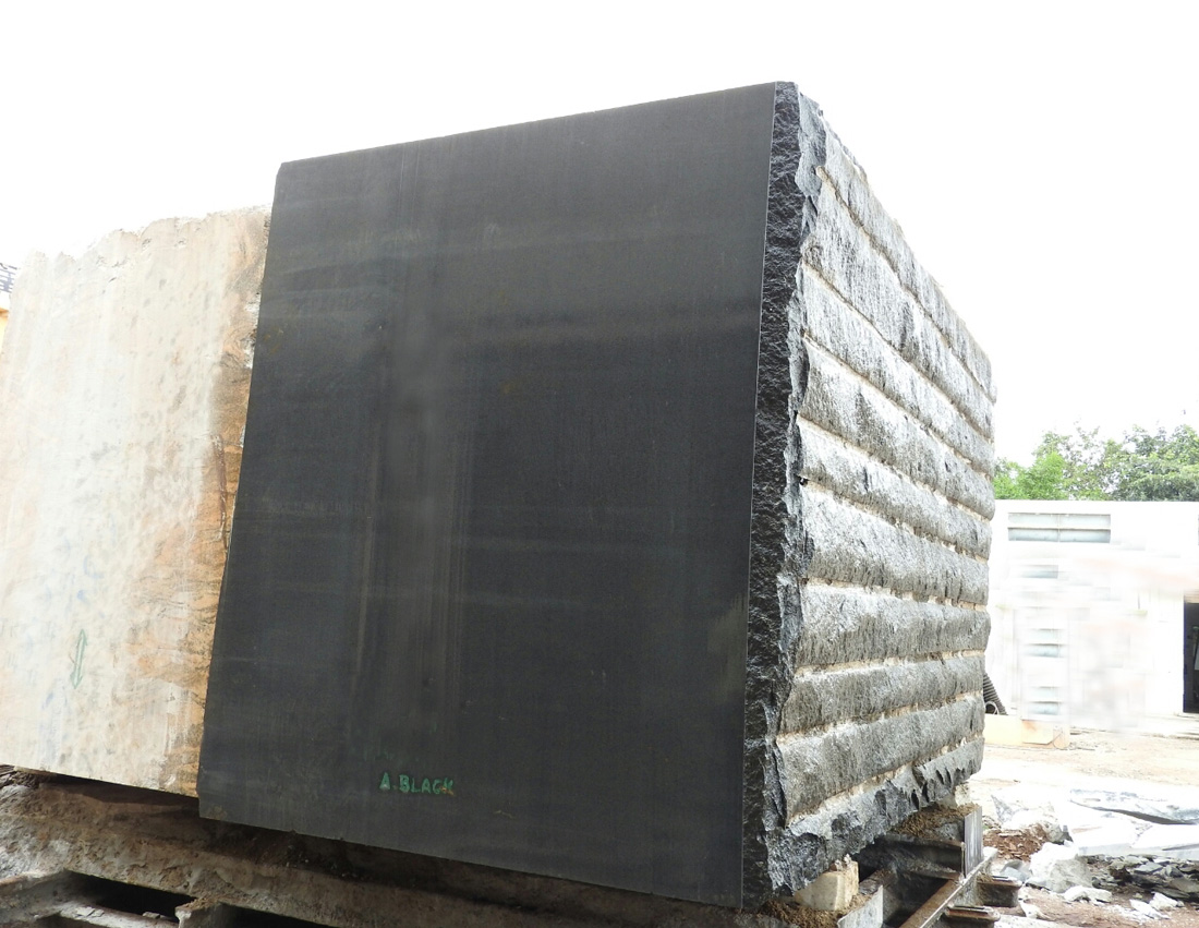absolute black granite block