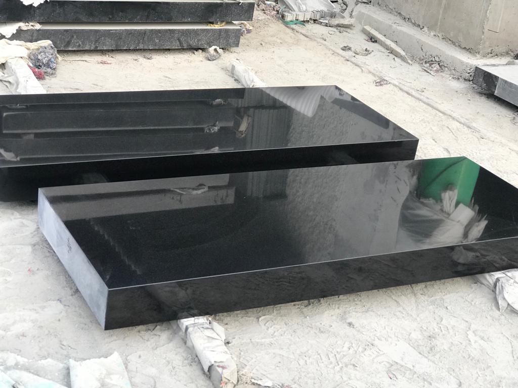 Absolute black tombstone slabs