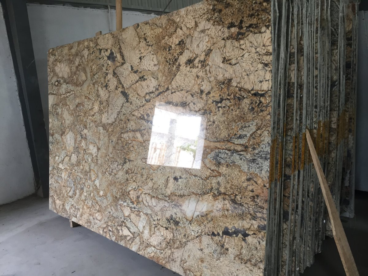 Alaska Gold Granite Polished Granite Slabs