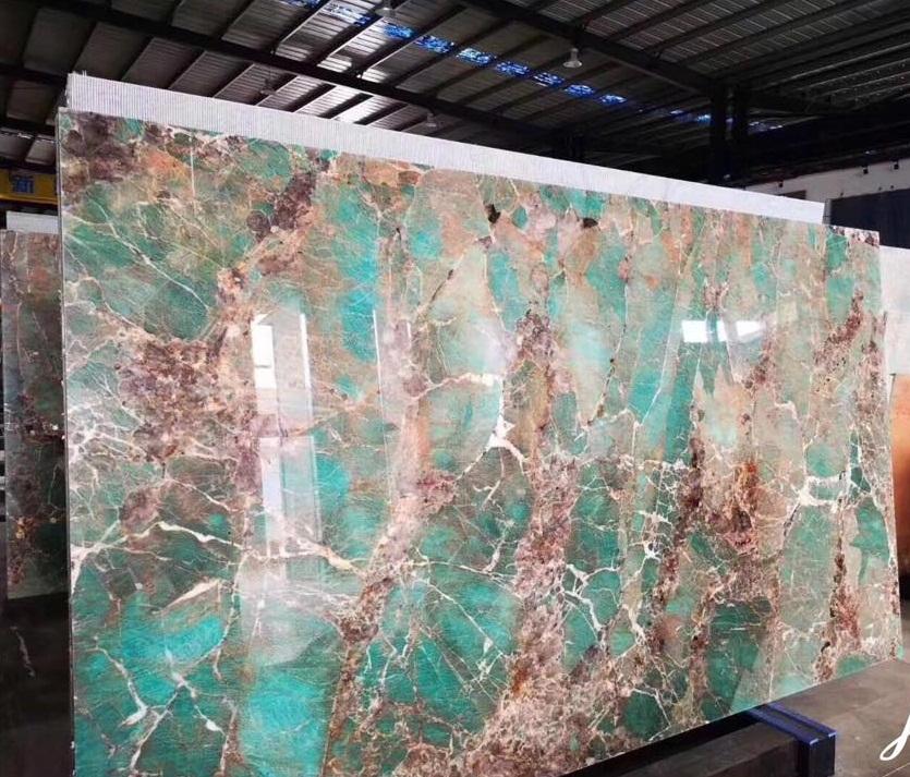 Amazon Green Quartzite slabs tiles countertops island top vanity tops tile
