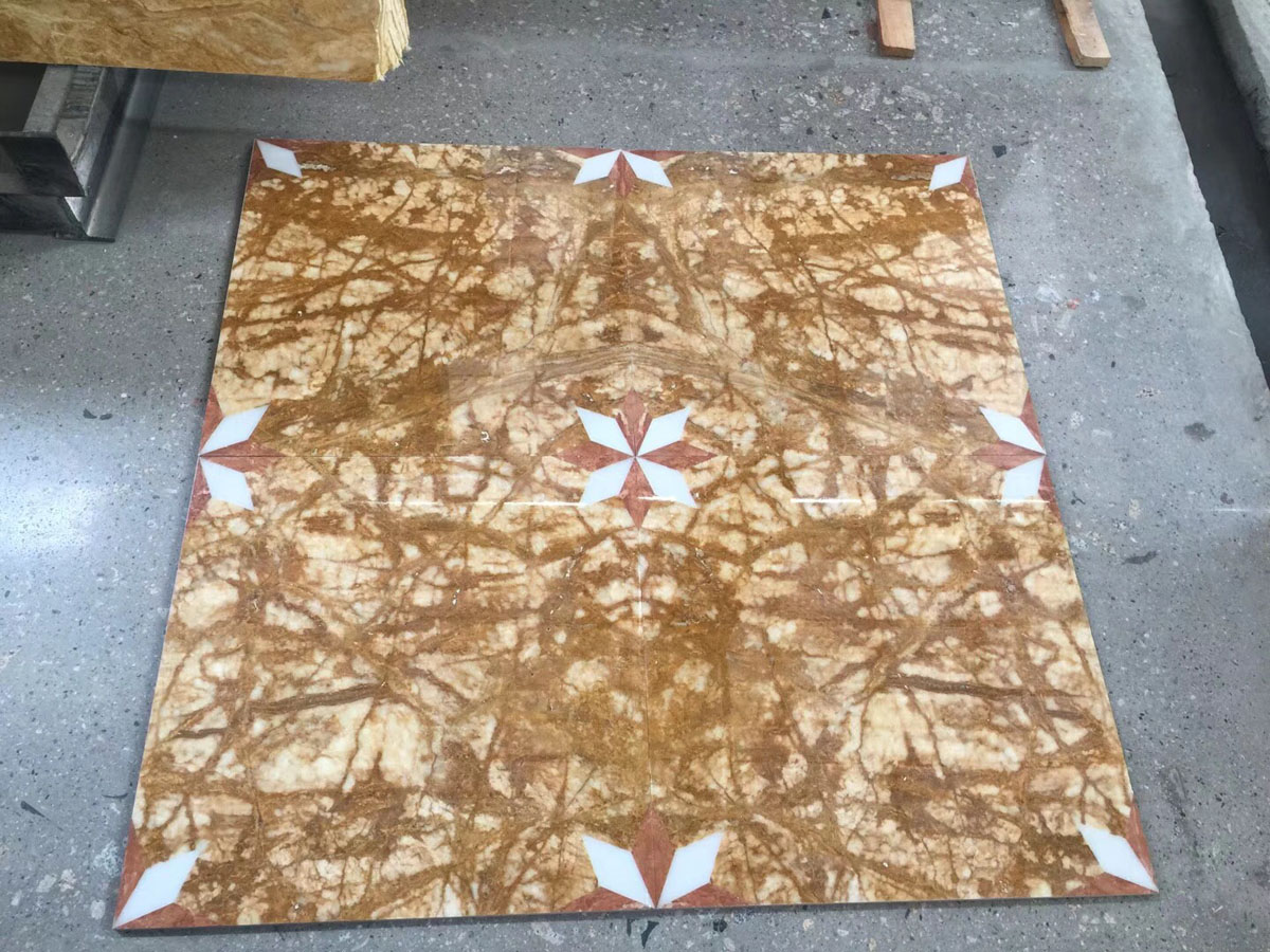 Amber Gold Marble Flooring Tiles