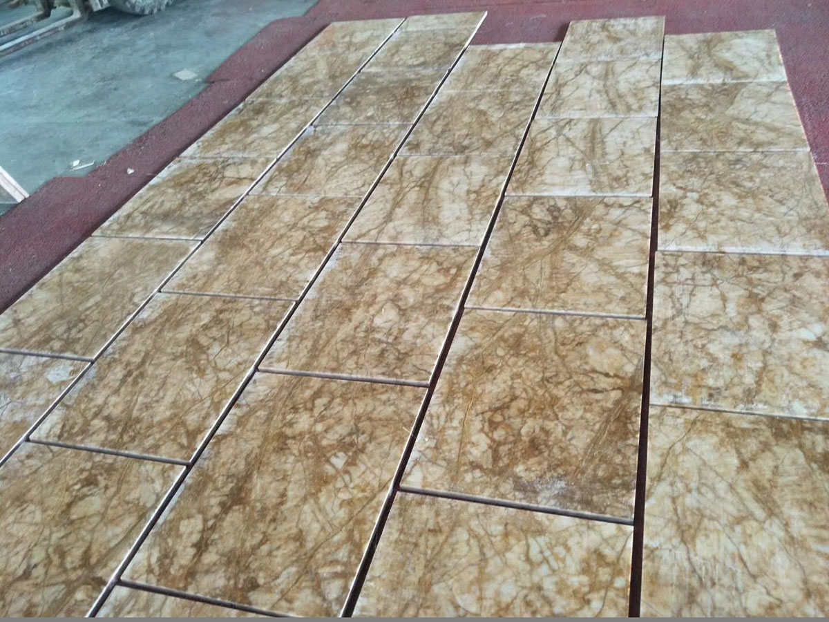 Amber Gold Marble Polished Flooring Tiles