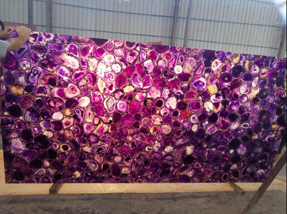amethyst stone purple artificial onyx slab