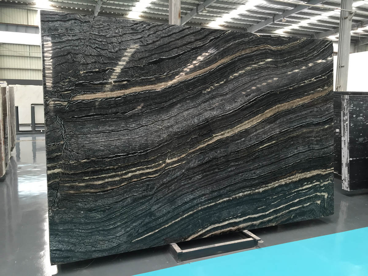 Ancient Wood Grain Marble Chinese Black Marble Sto