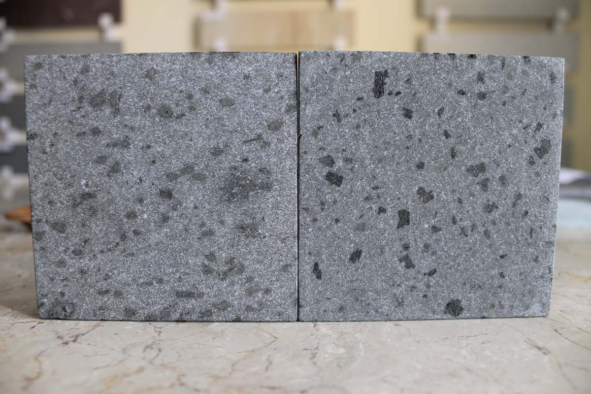 Bali Black Spot Andesite Stone Tiles Honed Surface