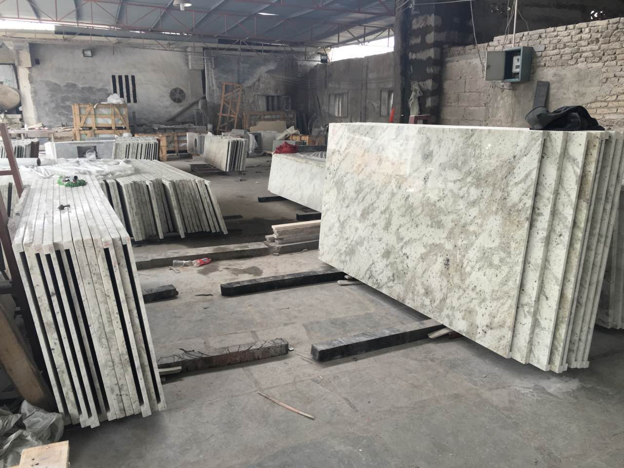 Andromdea White granite countertops