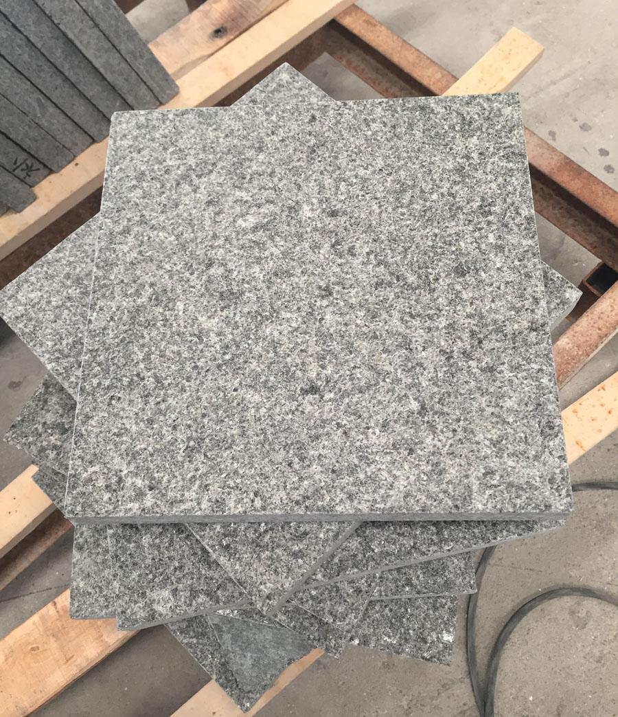 Angola Black Granite Flooring Tiles