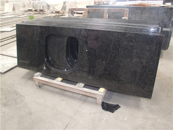 Angola black granite countertop