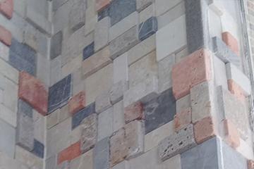 Mix Travertine Mosaics 3D-  red