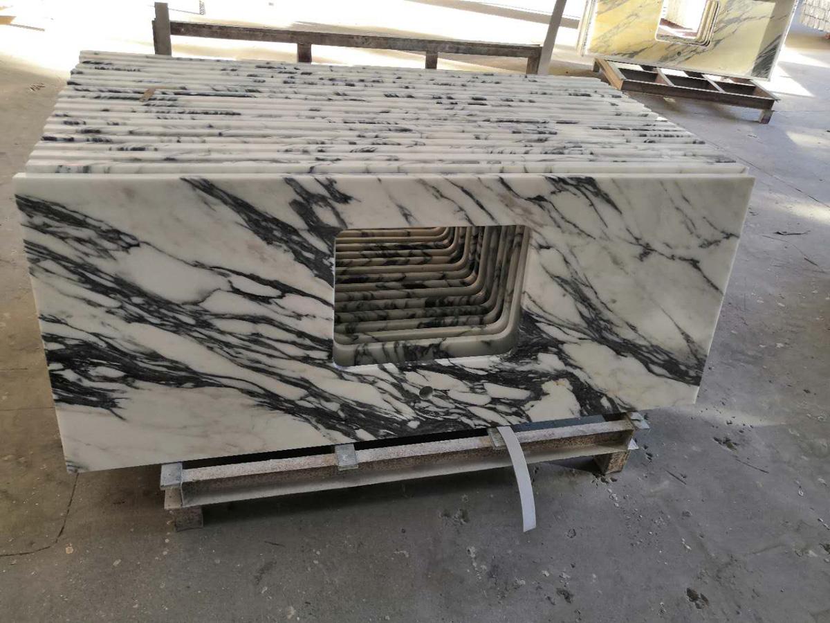 Arabescato White Marble Stone Countertops