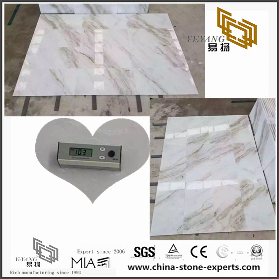 Natural Arabescato Venato White Marble Tile for Flooring Decor