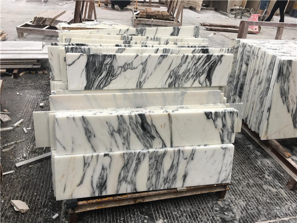 Grey Pattern Arabescato Corchia White Marble