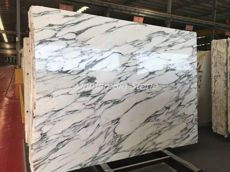 Italian Arabescato White Marble Slab
