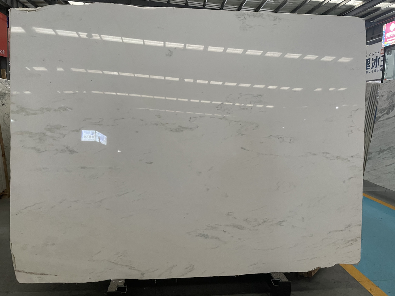 Asian Statuary big slab  hot sell high quality white marble