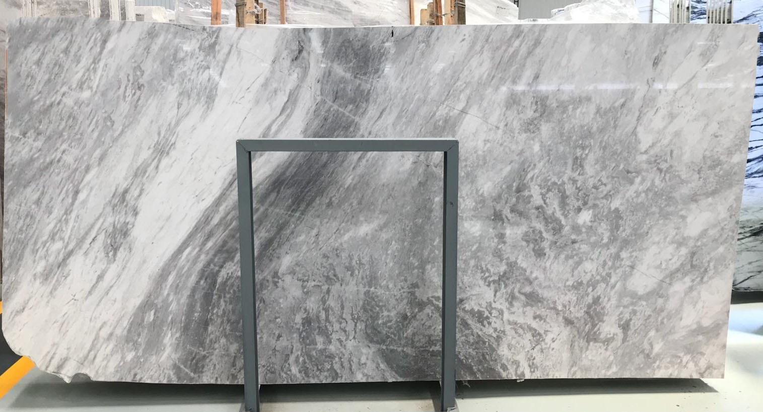 Polished Atlantic Grey Marble Slabs