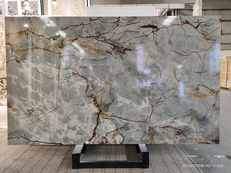 Azure Quartzite Slabs Brazil Blue Quartzite Stone Slabs