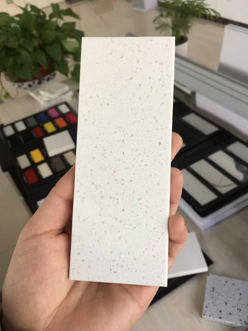 Azzure white color artificial quartz stone