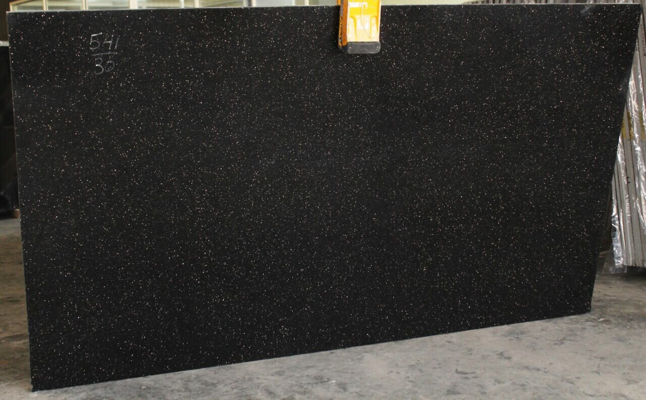 Black Galaxy Granite Indian Slabs