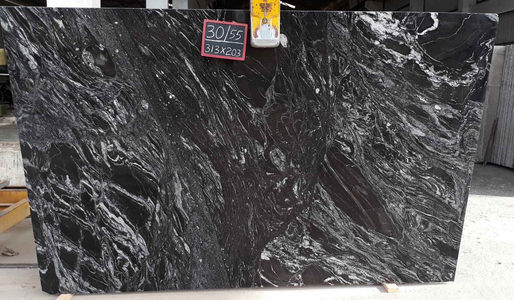 India Black Forest Granite Slab