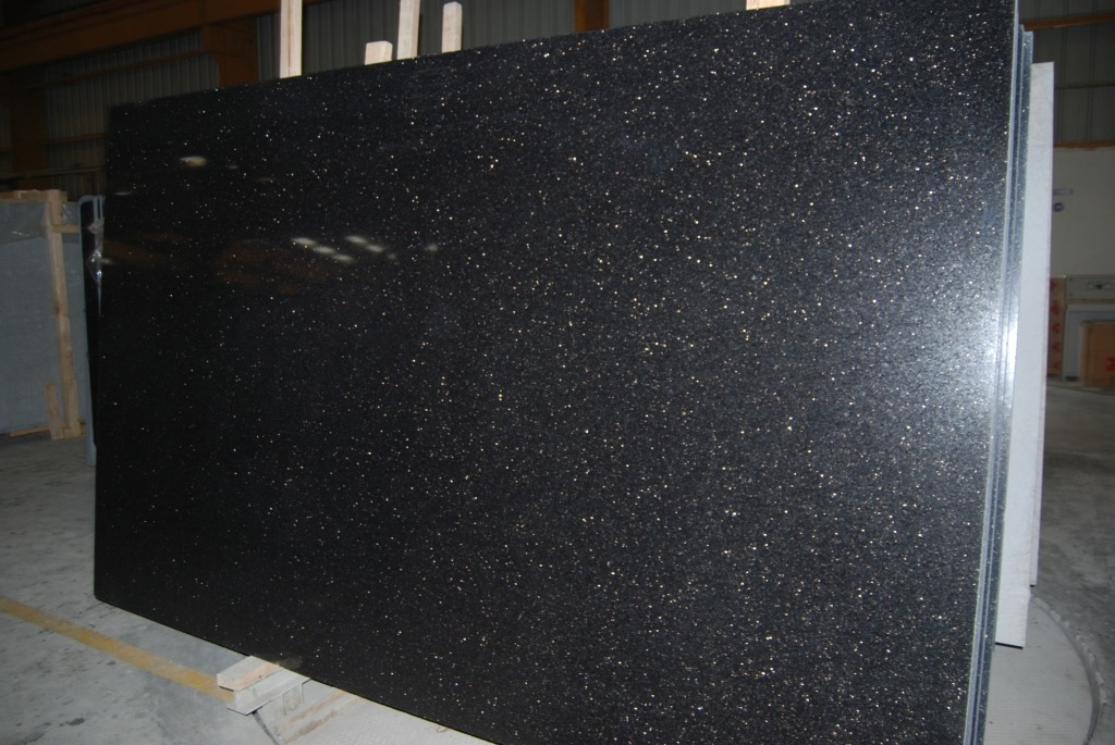 Black Galaxy Indian Black Granite Slabs