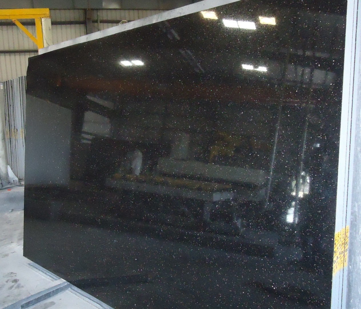 Indian Black Galaxy Granite Slab