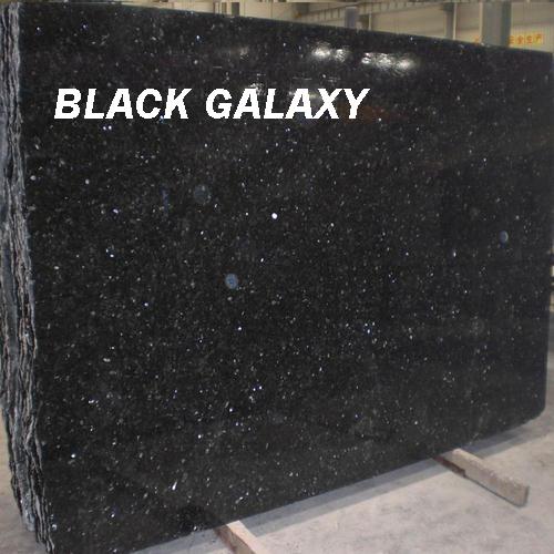 Black Galaxy Granite Polished Granite Black Slabs