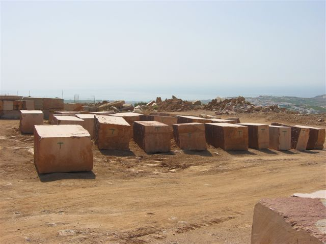 Aladnalus Red marble blocks