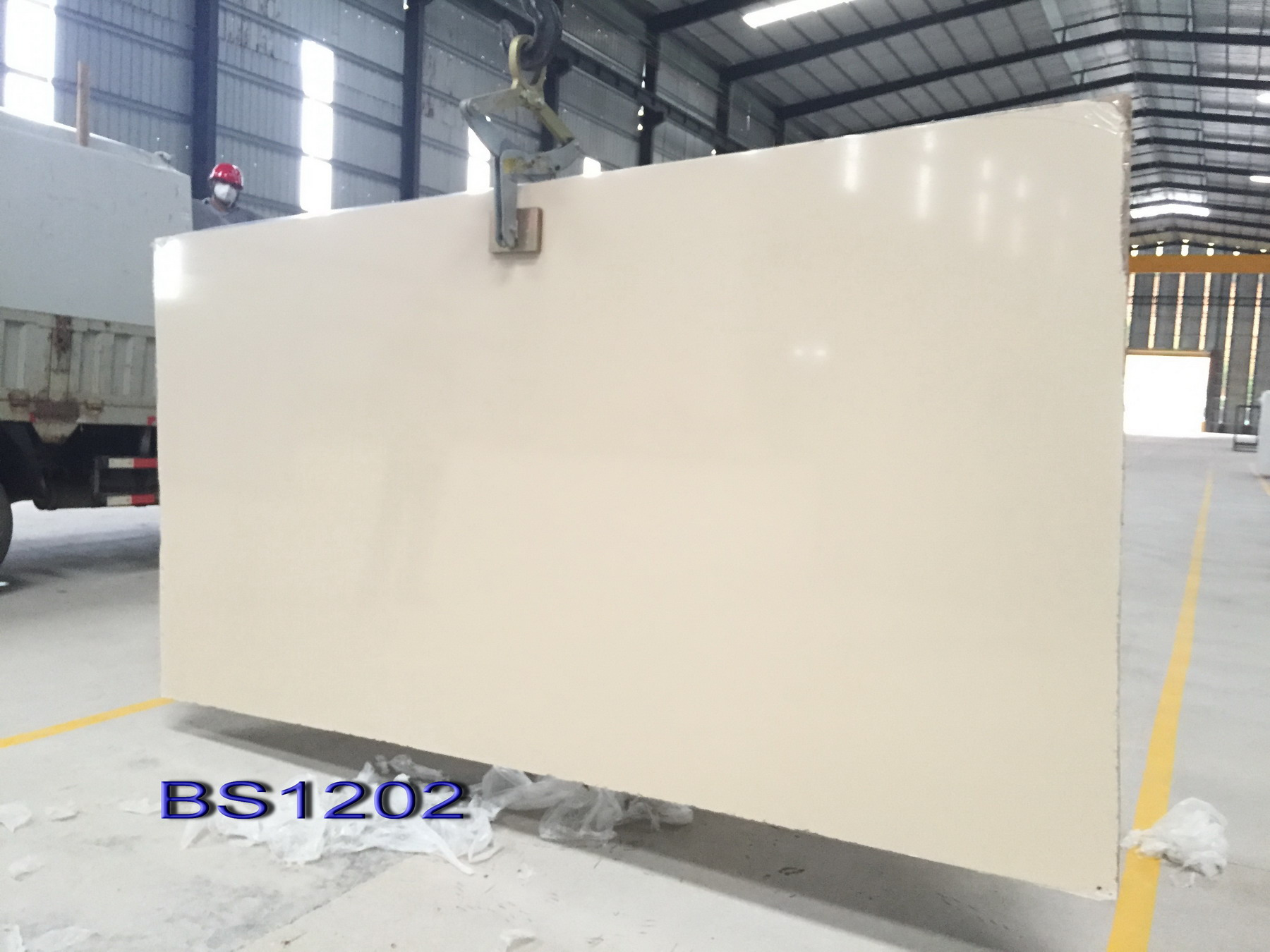 pure white  artificial quartz stone big slab