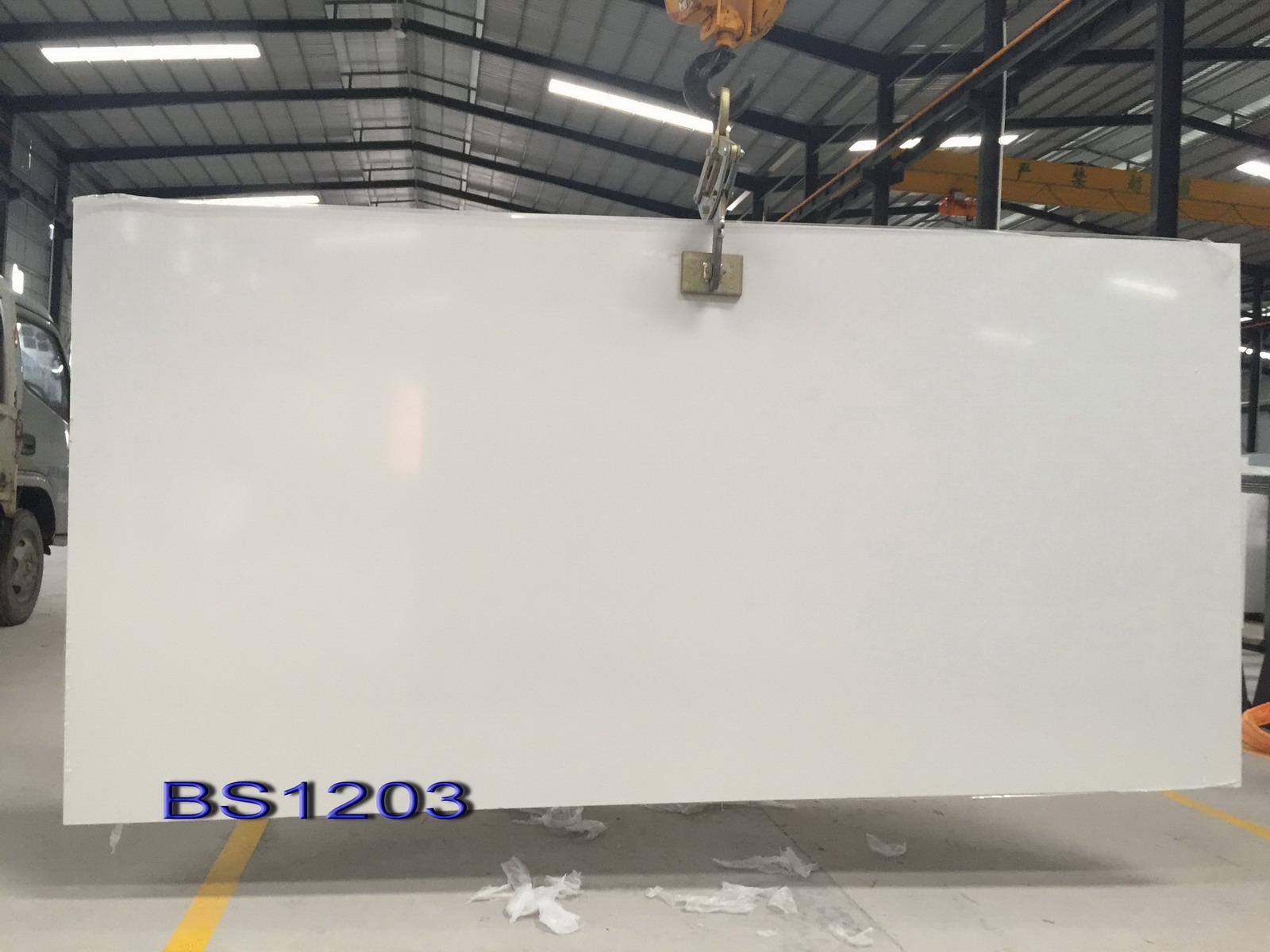 quartz stone slab pure white color for kitchen countertops