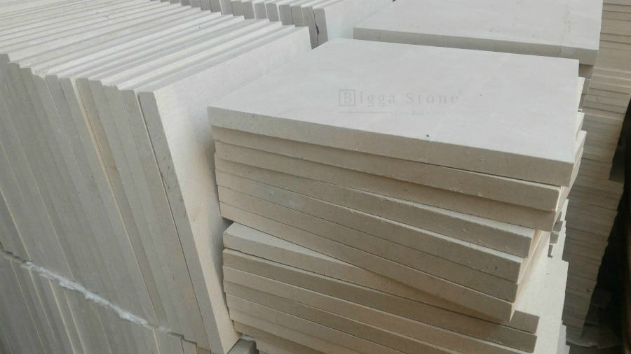 White Bali Palimanan Stone Tiles Limestone Honed