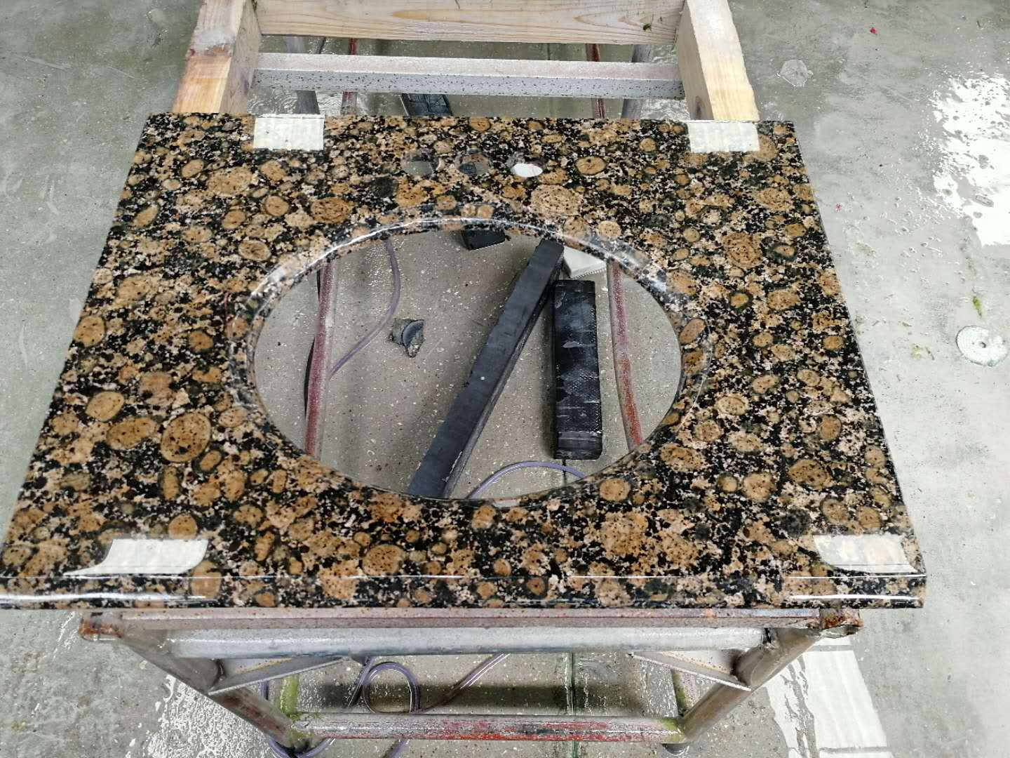 Brown granite vainity top