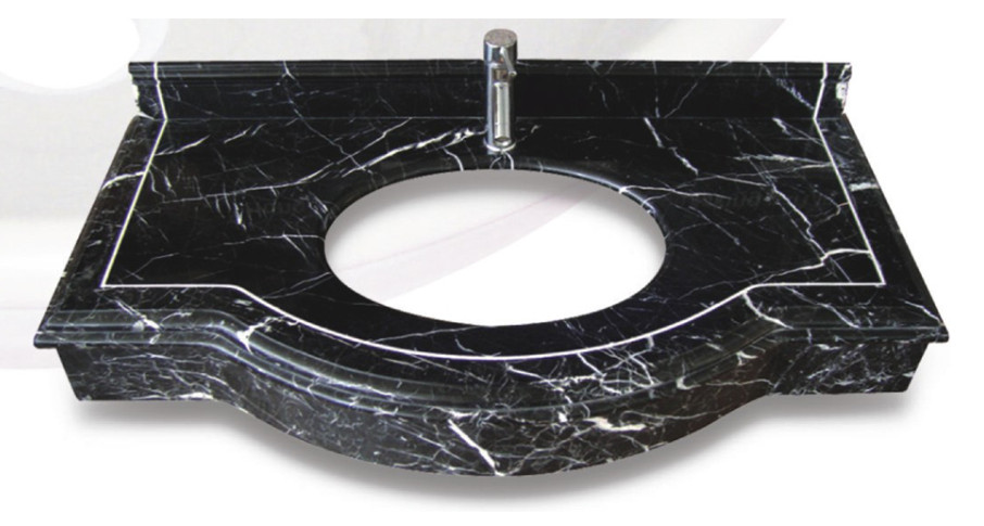 Black Marble Vanity Tops for Bathroom