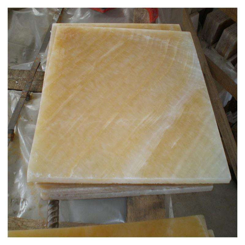 Transparent Yellow Onyx Tiles Slabs For Background