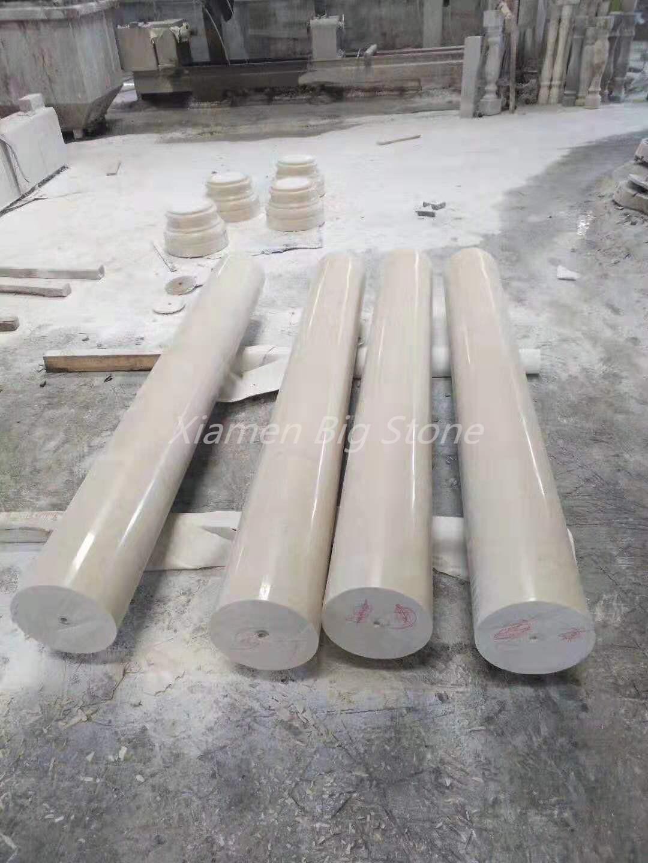 Beige Marble Column Design