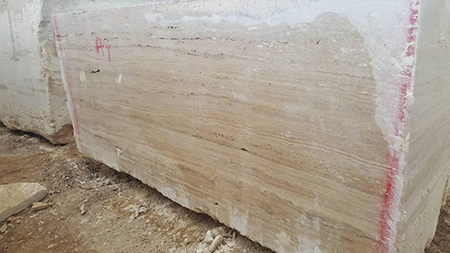 Beige Travertine Block from Iran