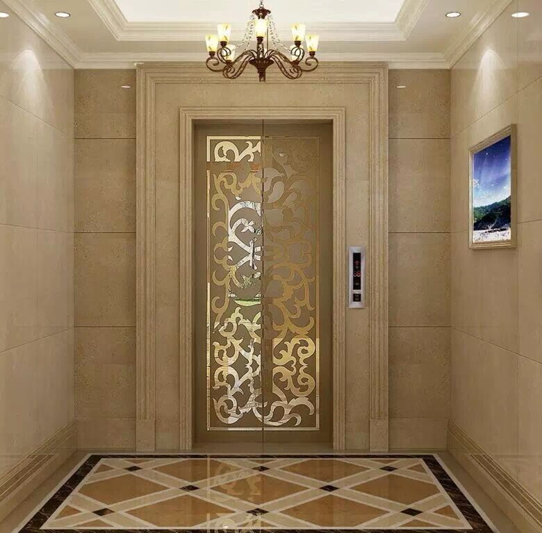 Beige door frame