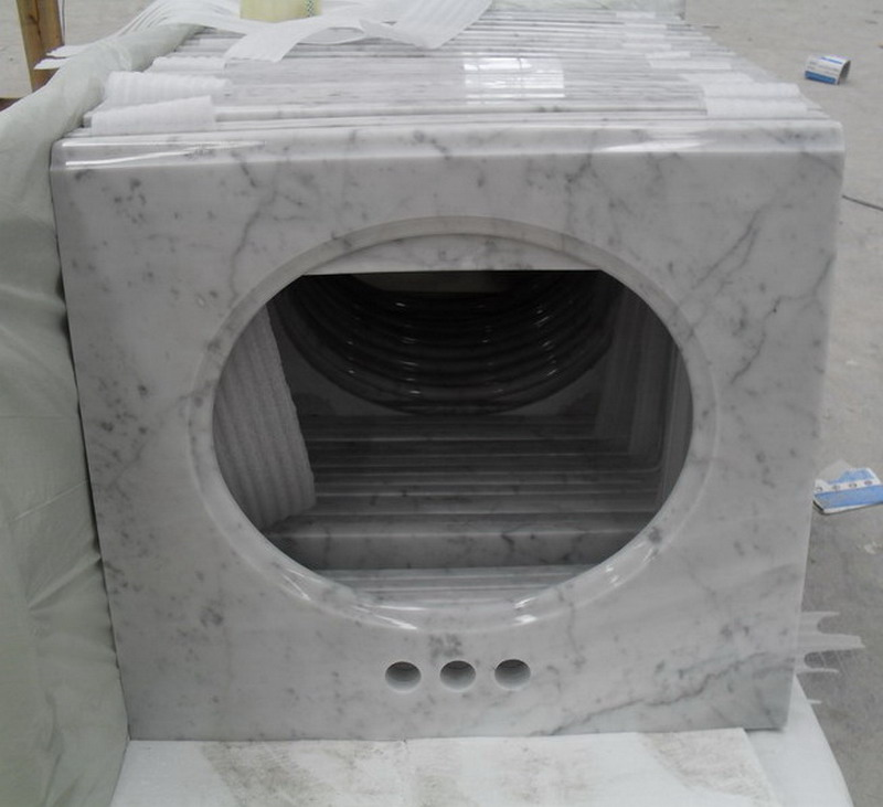 Bianco Carrara White Marble Vanity Tops