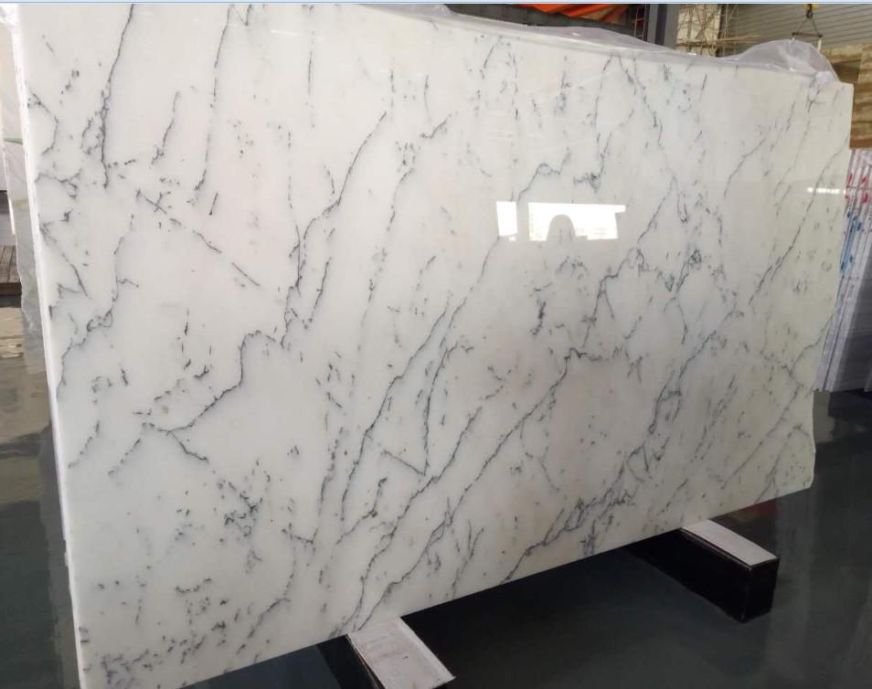 Bianco Carrara White Polished Marble Slabs
