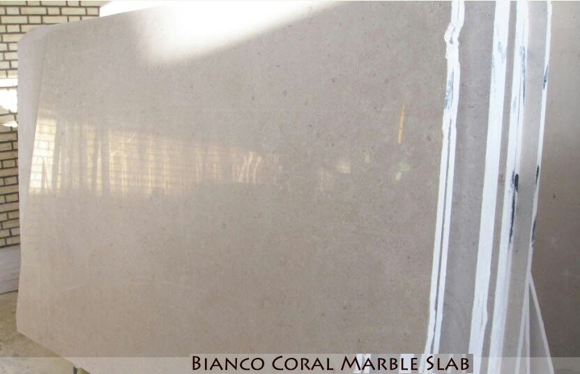 Bianco Coral Marble Slab