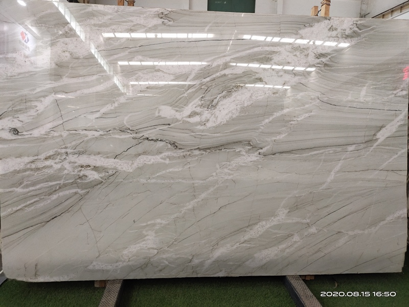 Bianco Macaubas White Quartzite Slabs