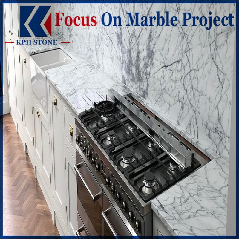 Statuario White Marble Countertops