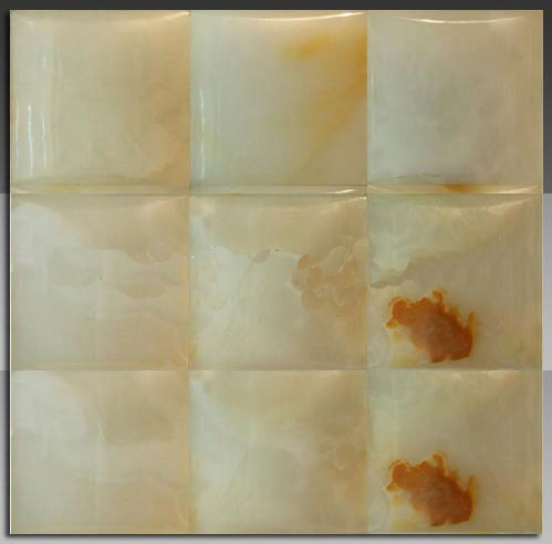 3D Big Concave series white onyx mosaic