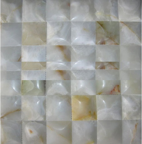 3D white onyx big Concave series mosaic