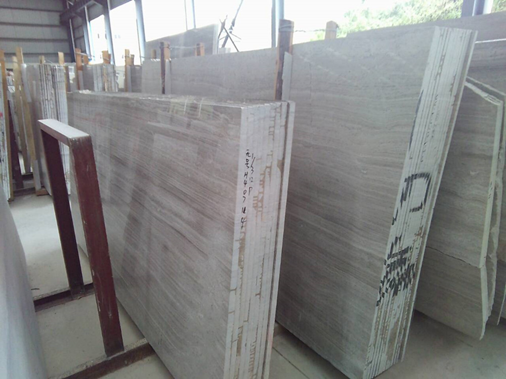 White grey marble big slabs 2cm thicknes