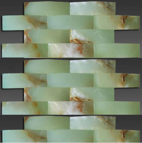 3D green onyx big wave series mosaic