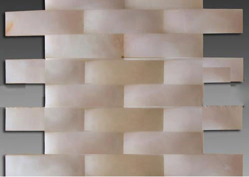 3D white onyx big wave series mosaic