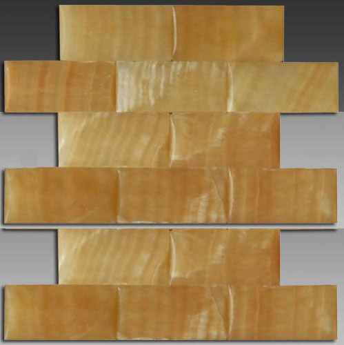 3D honey onyx big wave series mosaic