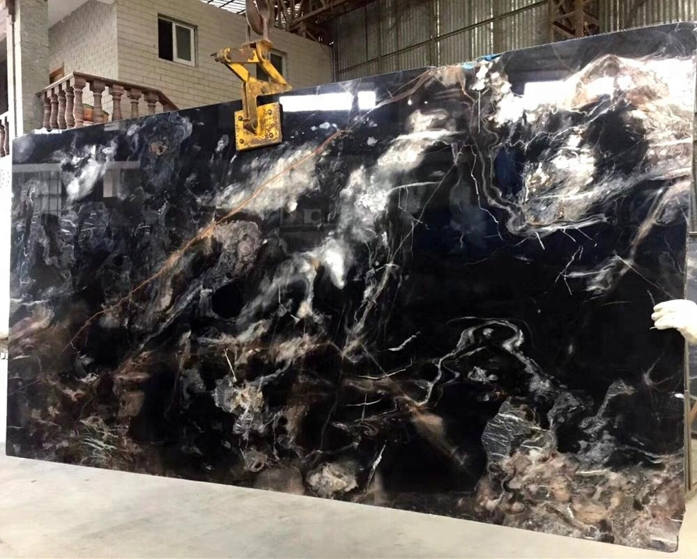 Black Rose Marble With Veins pattern